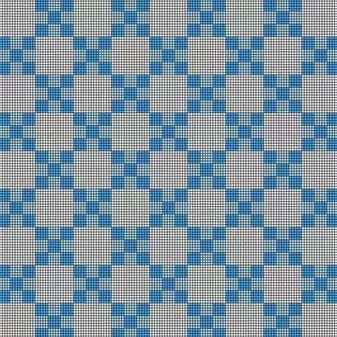 Blue and White Nested Checkerboard Pattern