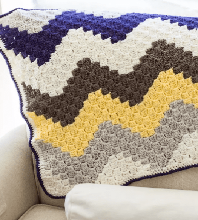 Corner to Corner Chevron Crochet