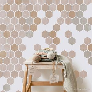 Honeycomb Hexagon Tiles Stencil