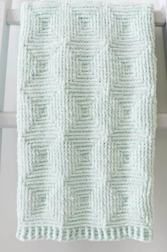Ribbed Diamond Blanket
