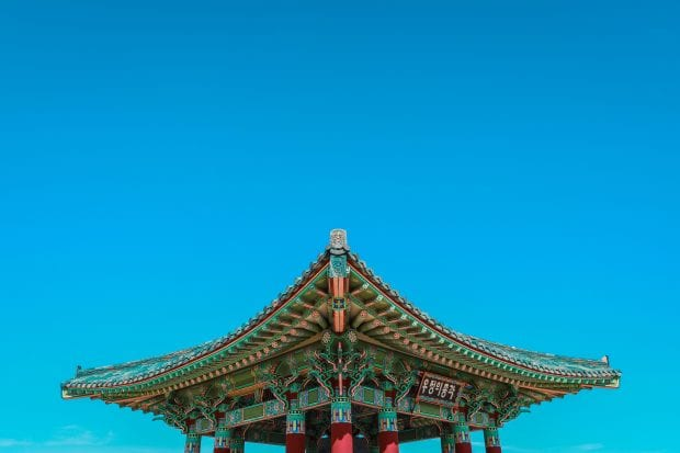 What does the color blue mean in Korea?