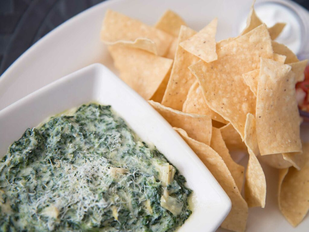 Hot Spinach Cheese Dip at Cheesecake Factory