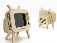 Tv Wood Iphone Stand