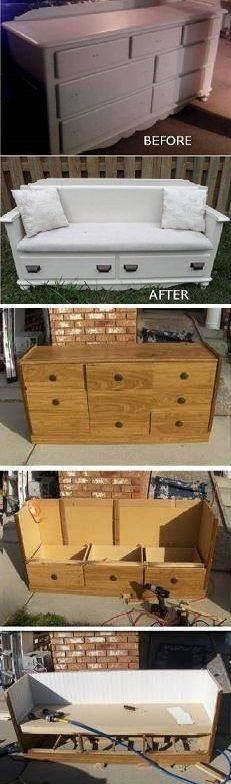 Turning An Old Dresser Into A New Bench