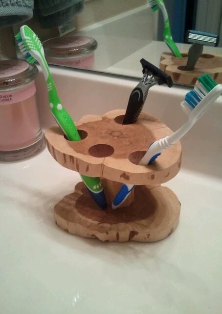 Four Holes Tooth Brush Holder