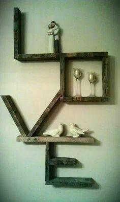 Love Wood Wall Rack