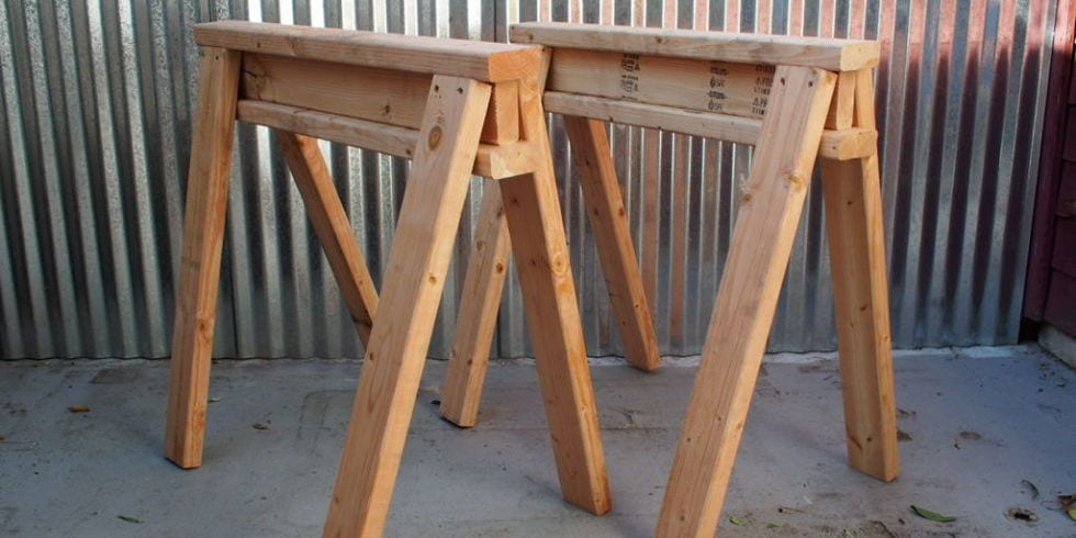 Stackable Sawhorses Plan