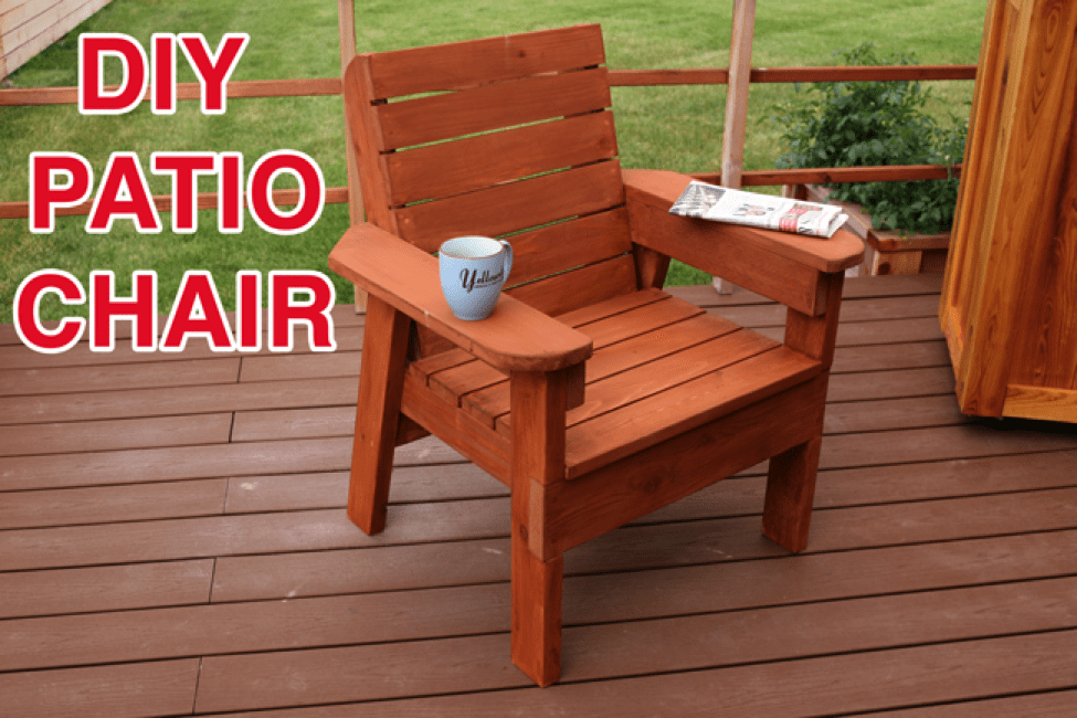 DIY Patio Chair Plan