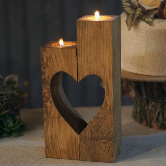 Heart shape candle stand