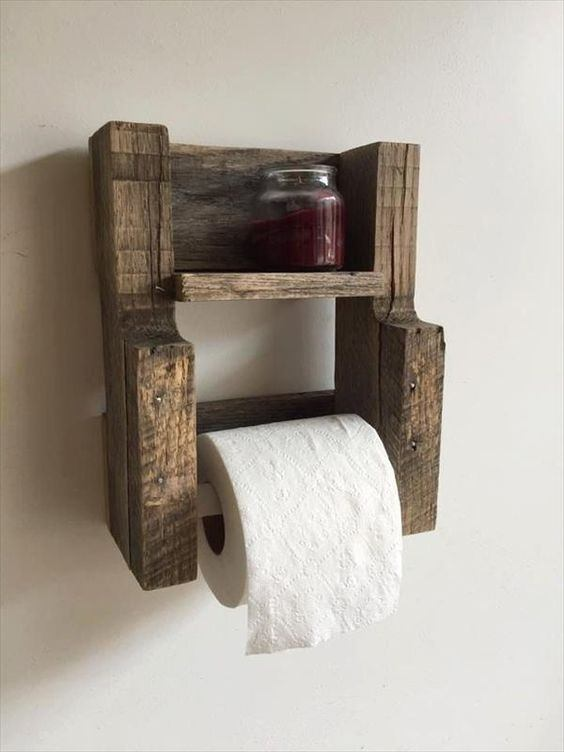Diy Pallet Toilet Paper Holder