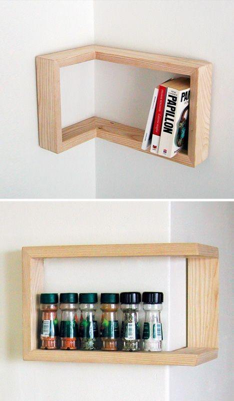 Small Corner Wall Shelf