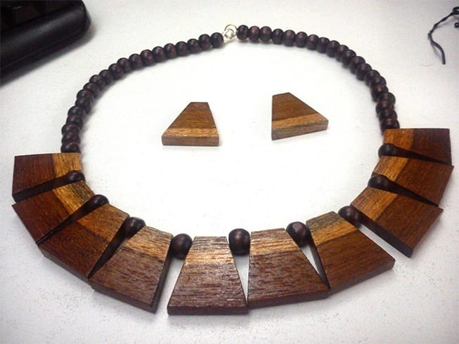 Wooden lockets or necklace