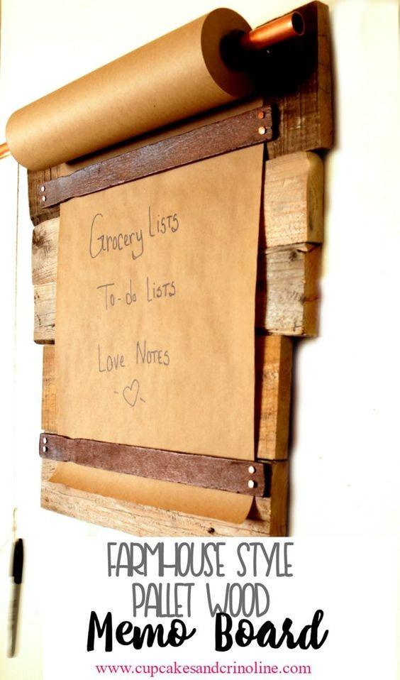 Diy Pallet Wood Memo Board