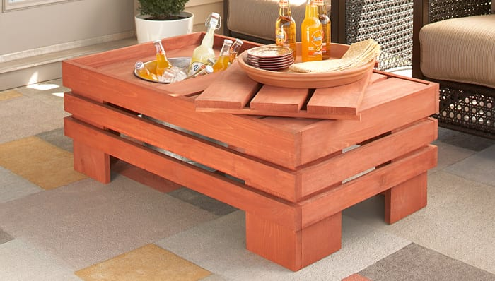 The Beverage Pallet Coffee Table
