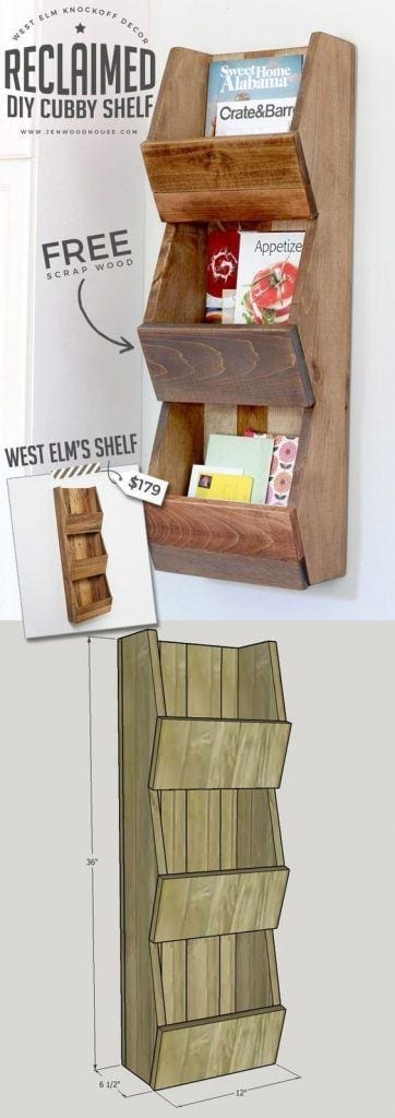 Diy West Elm-Inspired Wall Cubby Shelf