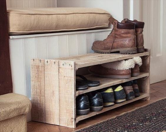 Wood Pallet Shoe Rack