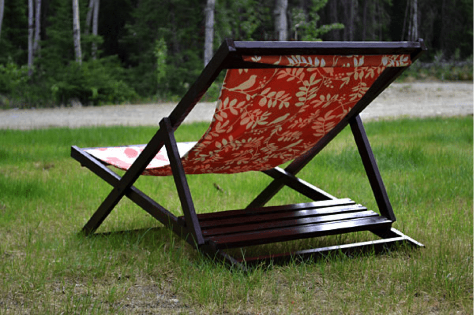 Wood Folding Sling Chair