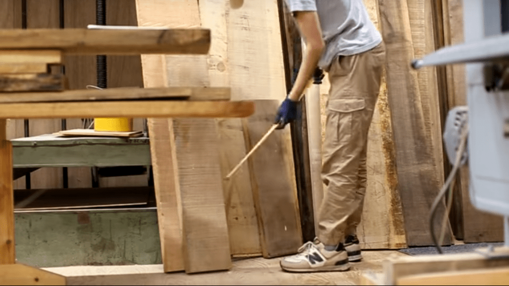 step 1 selection and measuring of wood