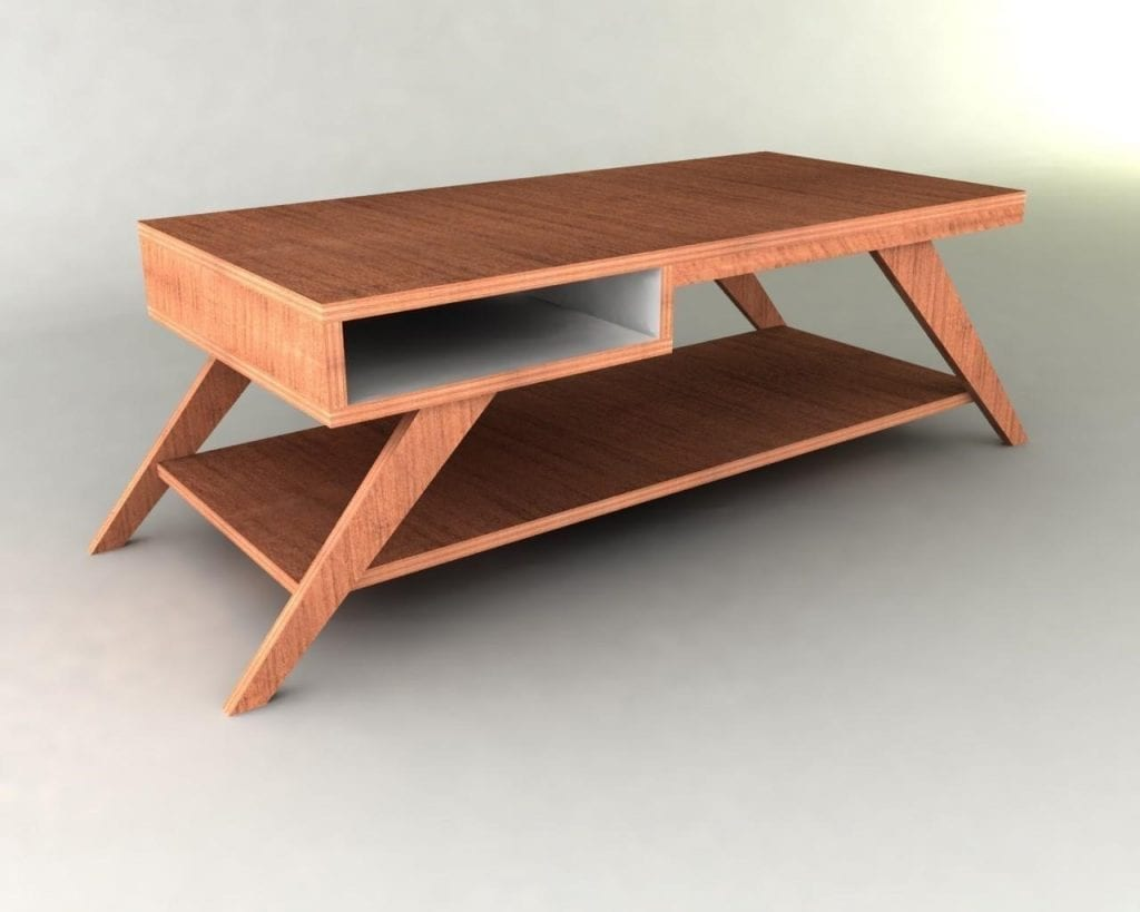 Stylish Wooden Table With Drawer
