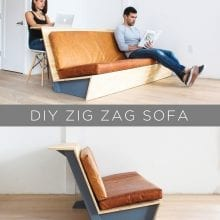 How to Build a Modern Couch with Table