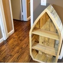 How to Make a Wood Boat Shelf From Reclaimed Pallet