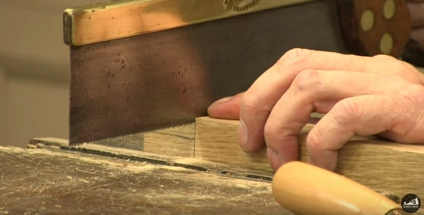 13 Cut The Tenon Joint Using A Hand Saw