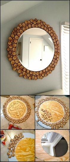 21 Wood Slice Mirror
