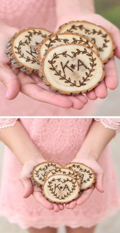 23 Rustic Sweetheart Coaster Set