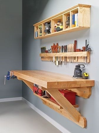 24 Wall Mounted Workbench