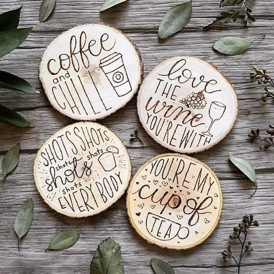 28 Wooden Coffee Signs