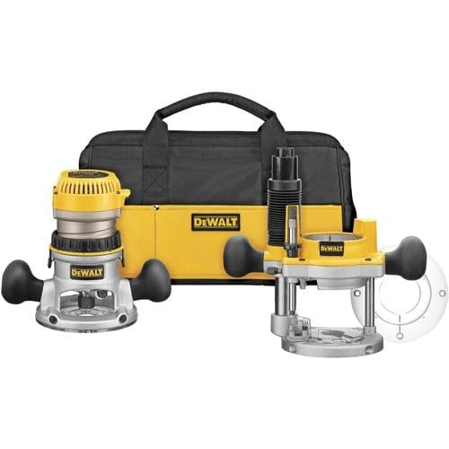 Dewalt Dw618Pkb 2 14 Hp Evs Fixed Baseplunge Router Combo Kit With Soft Start