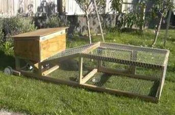 Rabbit Hutch And Tractor In One