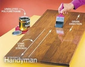 Apply Two Undiluted Coats Of Polyurethane