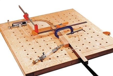 Bend And Clamp The Wood Down