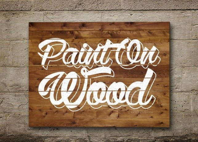 How To Paint Letters On Wood