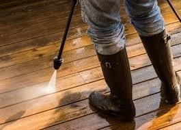 Pressure Washing Barn Wood