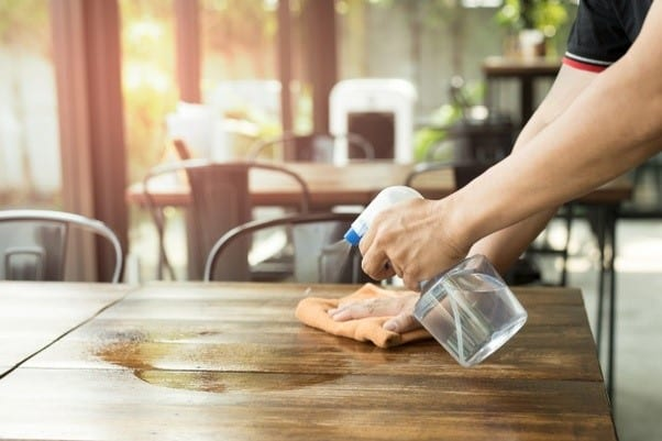 Rinse Wood With Clean Water
