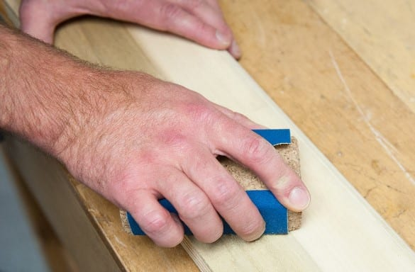 Sanding With A Contoured Sanding Block