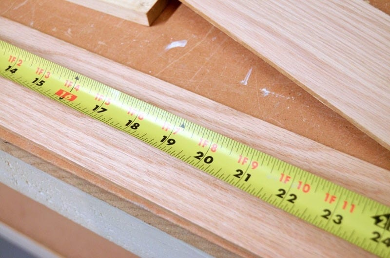 Step 1 Measure The Wood With A Tape Measure