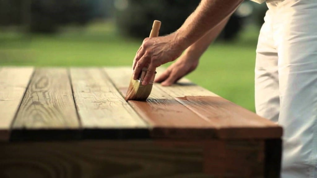 Step 2 Apply A Good Coat Of Wood Stain With The Help Of A Paint Brush
