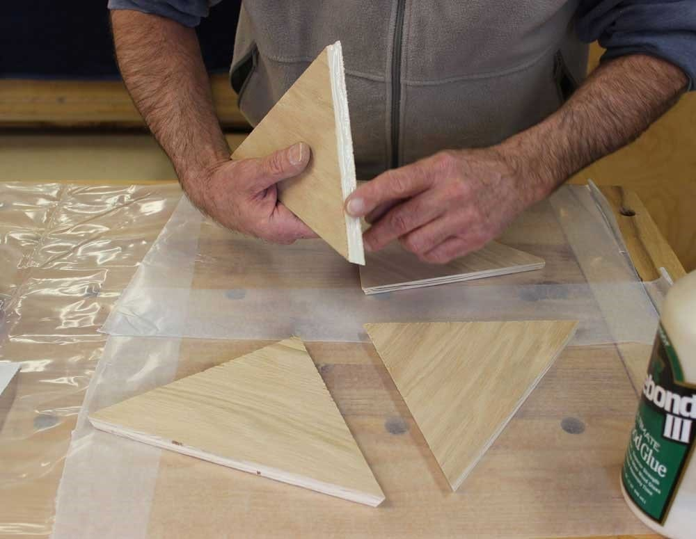 Step 2 Assemble The Triangle Sides With Their Long Sides On The Base To Make Four Sides Of The Pyramid