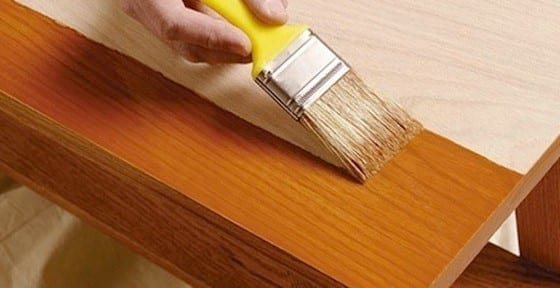 Step 2 Stain The Wood With Wood Stain