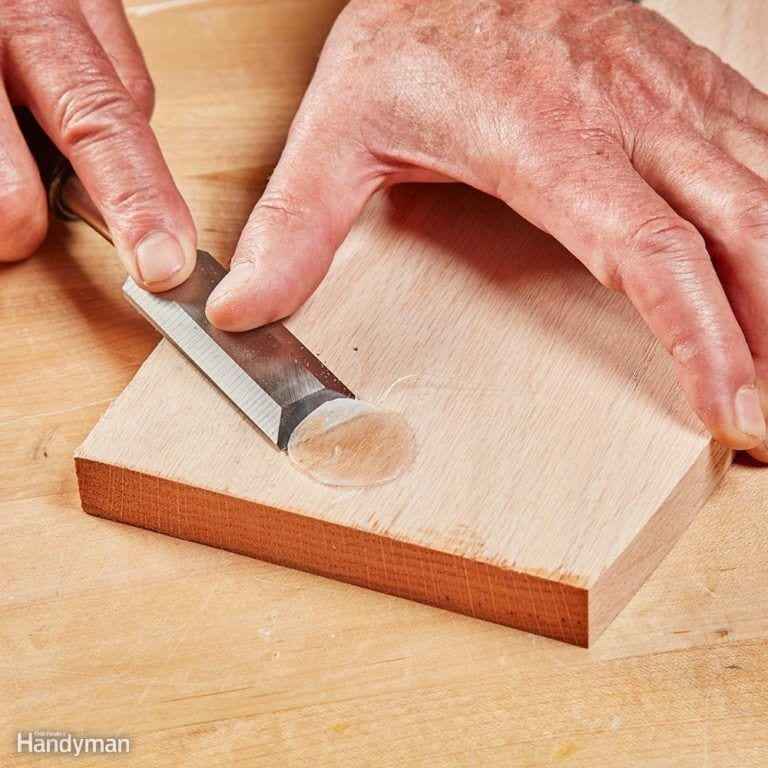 Use A Chisel To Reduce Smaller Amounts Of Glue 1