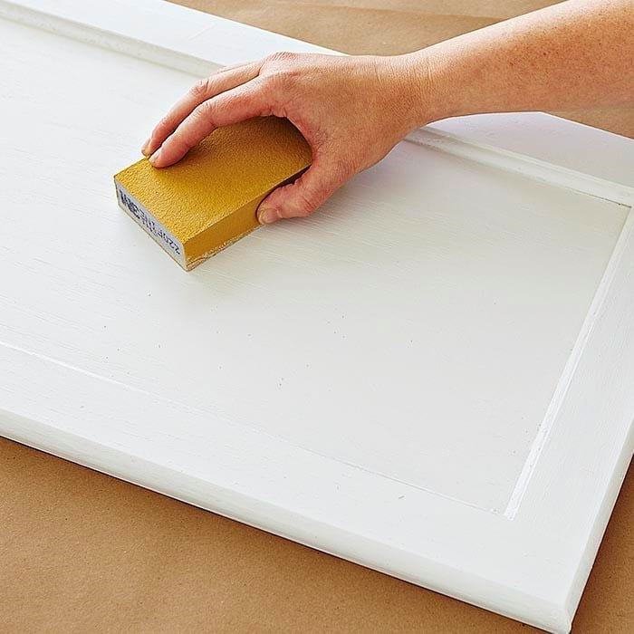 Use Sandpaper To Remove Dried Paint