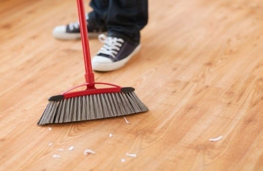 Clean By Sweeping Or Vacuuming The Newly Exposed Subfloor