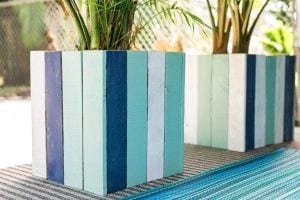 Diy Pretty Painted Wood Planter Boxes 2