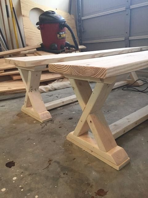 Diy Recycled Wooden X Stool And Side Table