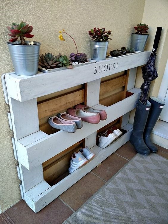 Double Purpose Shoe Rack
