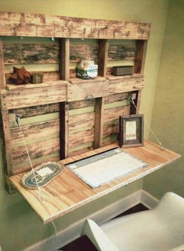 Foldable Pallet Desk