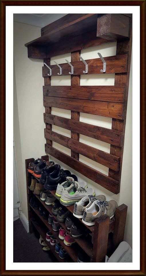 Multi Purpose Pallet Shoe Rack